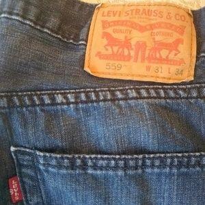 Levi's 559 jeans 31x34